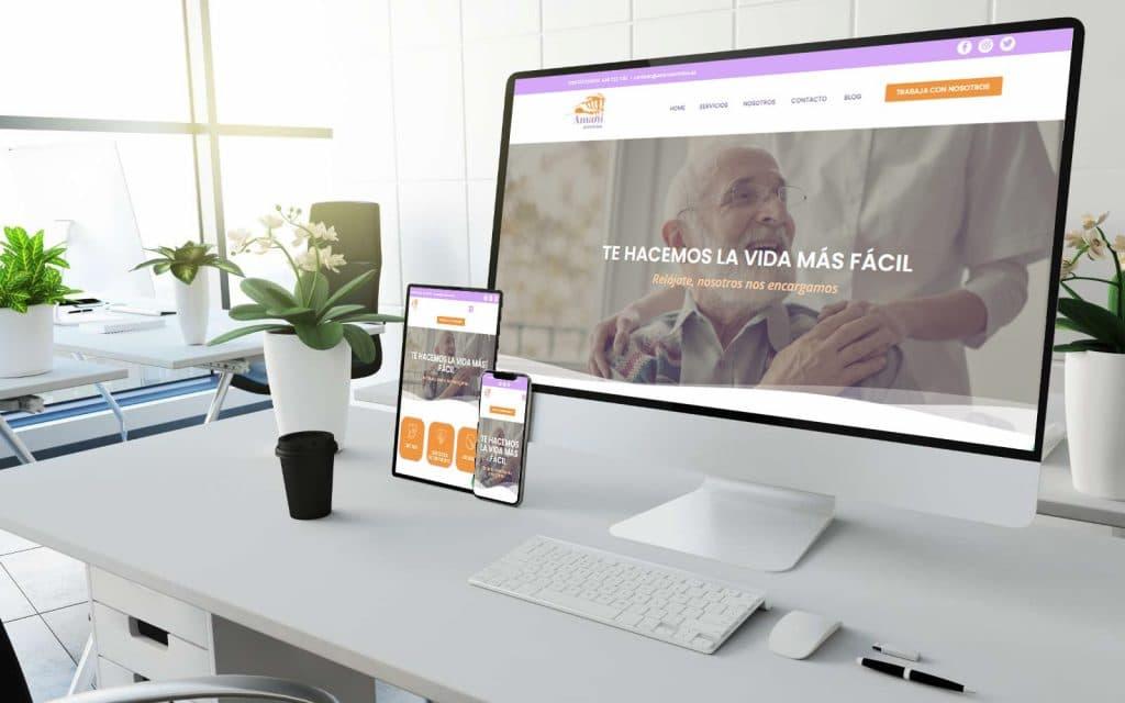 Diseño web Amani Servicios