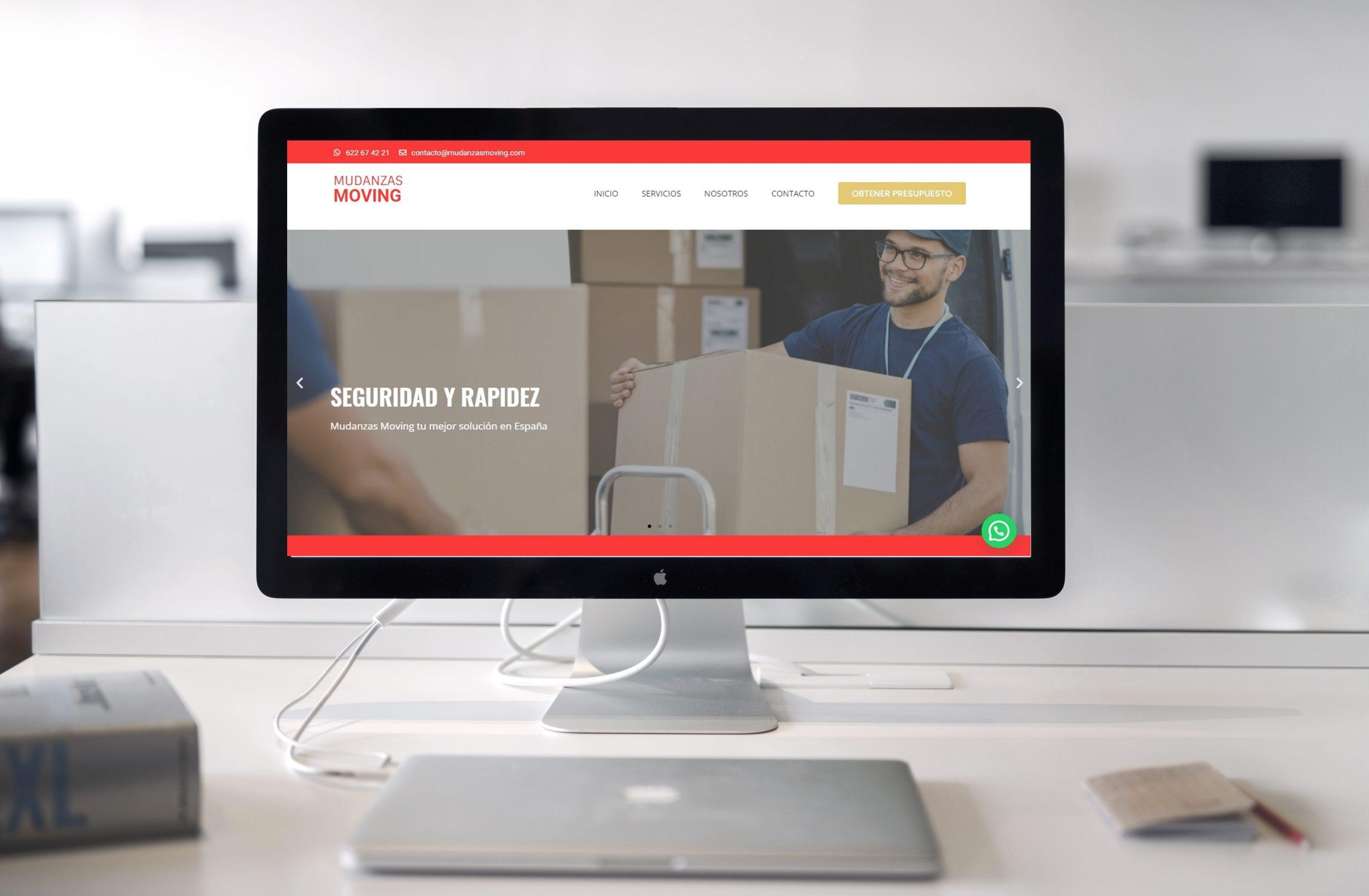 Soporte Website diseñamos y desarrollamos tu web 100 personalizada - Diseño de Mudanzas Moving - Mudanzas en Barcelona - Madrid 1