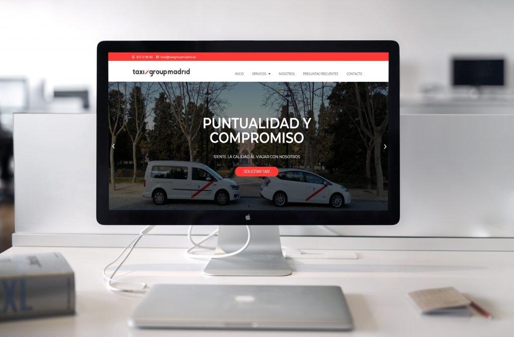 Taxi Group Madrid - Pagina Web desarrollada por Soporte Website - Diseño y desarrollo web - Portfolio de Soporte website